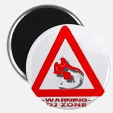 Warning_DJ_White Magnet