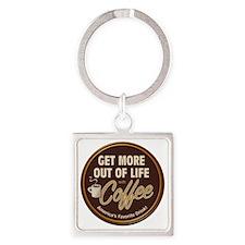 MoreOutOfLife_Coffe Square Keychain