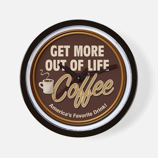 MoreOutOfLife_Coffe Wall Clock
