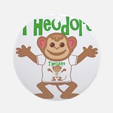 theodore-b-monkey Round Ornament