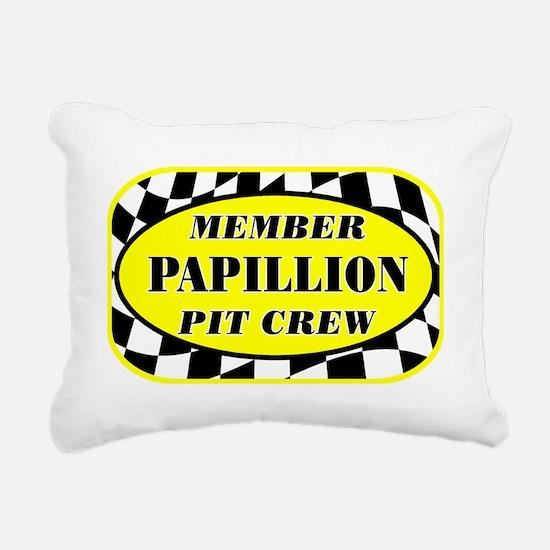 papillonpitcrew_black Rectangular Canvas Pillow