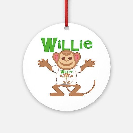 willie-b-monkey Round Ornament