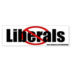 No Liberals Political Bumper Sticker
