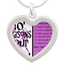 Gemini6 Silver Heart Necklace