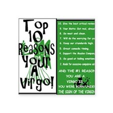 "Virgo6.gif Square Sticker 3"" x 3"""