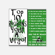 "Virgo6.gif Square Sticker 3"" x 3"""