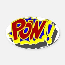comic book pow Oval Car Magnet