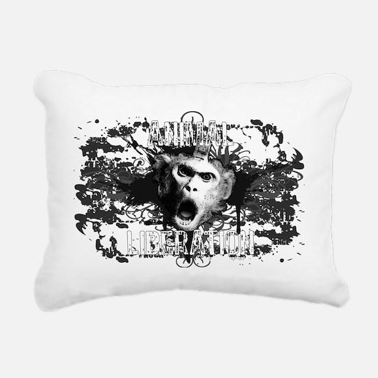 animal-liberation-01 Rectangular Canvas Pillow