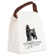 bouvier rescue Canvas Lunch Bag