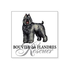 """bouvier rescue Square Sticker 3"""" x 3"""""""