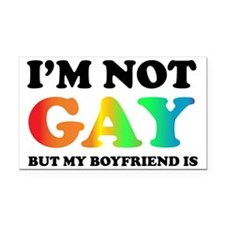 Im not gay Rectangle Car Magnet