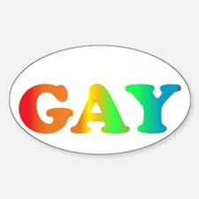 Im not gay2 Sticker (Oval)