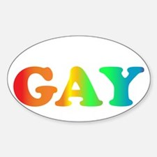 im not gay4 Sticker (Oval)
