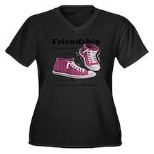 laces Women's Plus Size Dark V-Neck T-Shirt