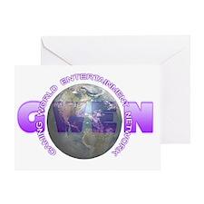 GWEN_Logo4_NoBkgd(DarkGlobe) Greeting Card