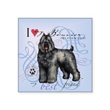 "bouvier-tile Square Sticker 3"" x 3"""