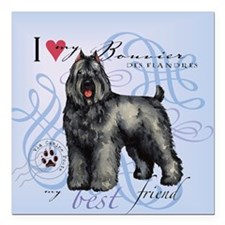 "bouvier-tile Square Car Magnet 3"" x 3"""