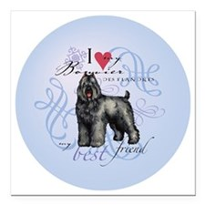 "bouvier-round Square Car Magnet 3"" x 3"""