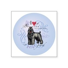 "bouvier-round Square Sticker 3"" x 3"""