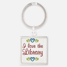 library Square Keychain