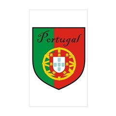 Portugal Flag Crest Shield Rectangle Decal