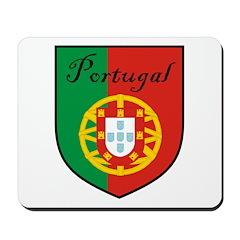 Portugal Flag Crest Shield Mousepad
