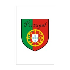 Portugal Flag Crest Shield Posters