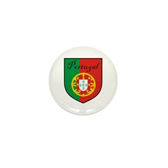 Portugal Flag Crest Shield Mini Button (100 pack)
