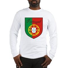Portugal Flag Crest Shield Long Sleeve T-Shirt