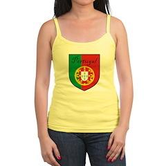 Portugal Flag Crest Shield Jr.Spaghetti Strap
