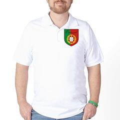Portugal Flag Crest Shield T-Shirt