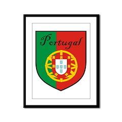 Portugal Flag Crest Shield Framed Panel Print