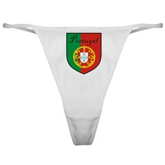 Portugal Flag Crest Shield Classic Thong
