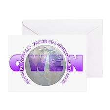 GWEN_Logo4_NoBkgd(LightGlobe) Greeting Card