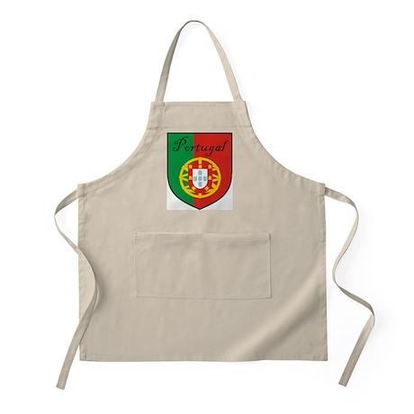 Portugal Flag Crest Shield BBQ Apron