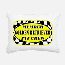 goldenretrieverpitcrew_b Rectangular Canvas Pillow