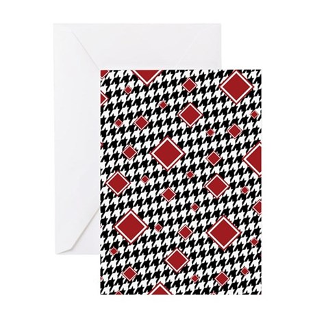 CRIMSON DIAMONDS Greeting Card