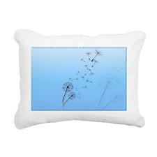 Dandelion on Baby Blue-Y Rectangular Canvas Pillow