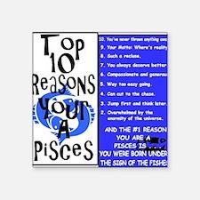"""Pisces6 Square Sticker 3"""" x 3"""""""