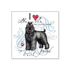 "Bouvier T1 Square Sticker 3"" x 3"""