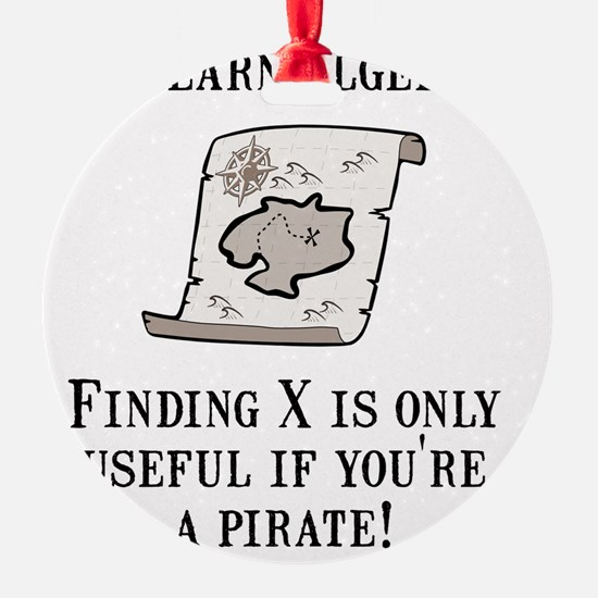 Algebra Pirate Black Ornament