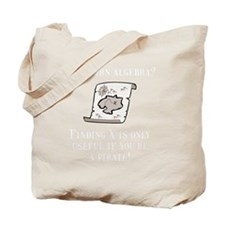 Algebra Pirate White Tote Bag