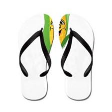 Corn See Tomorrow White Flip Flops