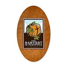 18x13-6_HarvestPlentiful_BG0 35x21 Oval Wall Decal