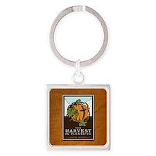 18x13-6_HarvestPlentiful_BG01 Square Keychain