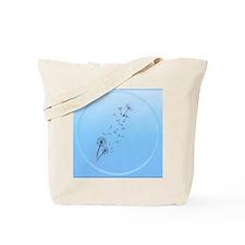 Dandelion on Baby Blue-circle Tote Bag