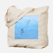Dandelion on Baby Blue-circle Tote Bag