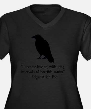 Edgar Allen  Women's Plus Size Dark V-Neck T-Shirt