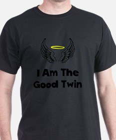 I Am The Good Twin Black T-Shirt
