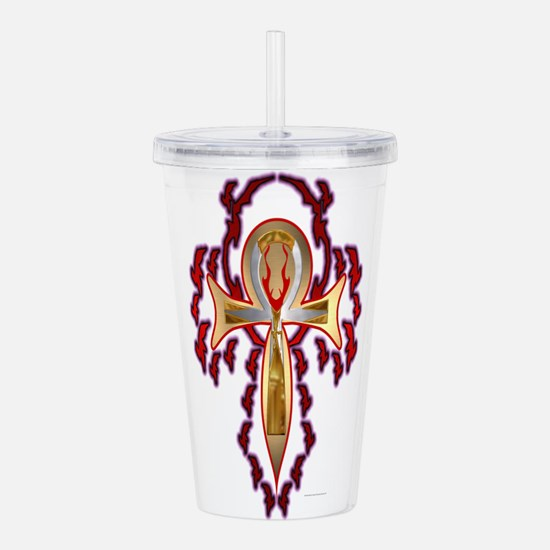 Fired Ankh Acrylic Double-wall Tumbler